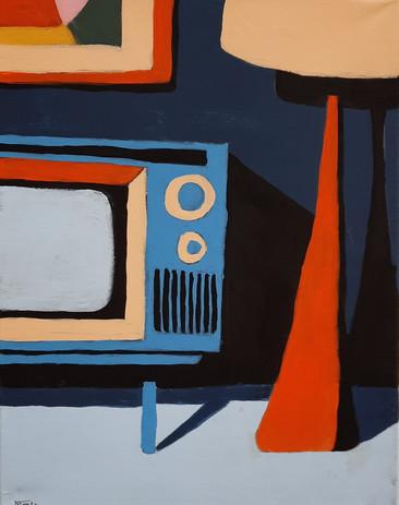"Maddie Jones 'Retro 70s' 11"" x 14"" acrylic on canvas"