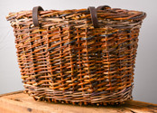 Willow Purse with Leather Handles  Anneh Kessels  SOLD
