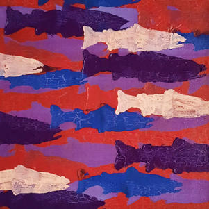 "Little Migration 2 9"" x 9"" Acrylic on Canvas $200"