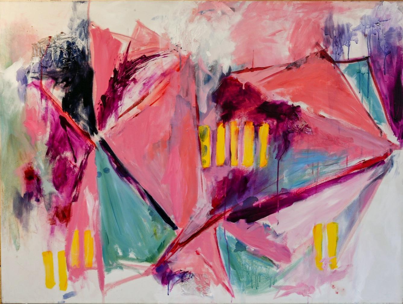 """""""DIMOND""""  36"""" x 48"""" Acrylic on Canvas  Emily Klaassen"""