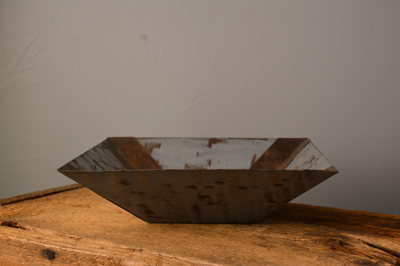 """Square Bowl""  10 w x 10 d x 4.5 h   Copper  Brandon Zimmerman"