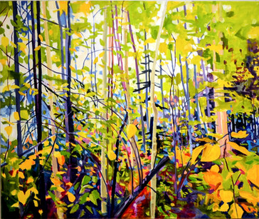 """""""Branch Tangle""""  40"""" x 48"""" Oil on Canvas  Mark Tworow"""