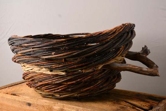 Rope Coil Basket  Willow/Bulrush/Driftwood  Anneh Kessels