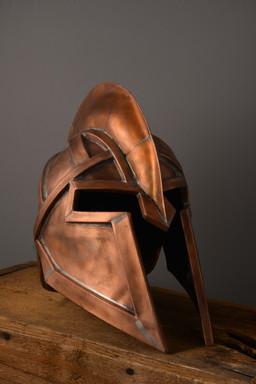 """Spartan Helmet""  9.5 w x 14 d x 13 h   Copper  Brandon Zimmerman"