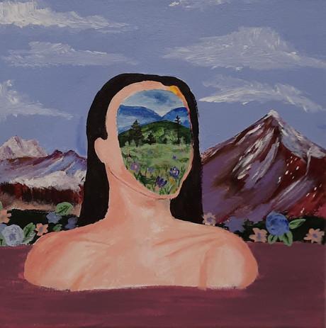 "Maria Read 'Untitled' 12"" x 12"" acrylic on canvas"