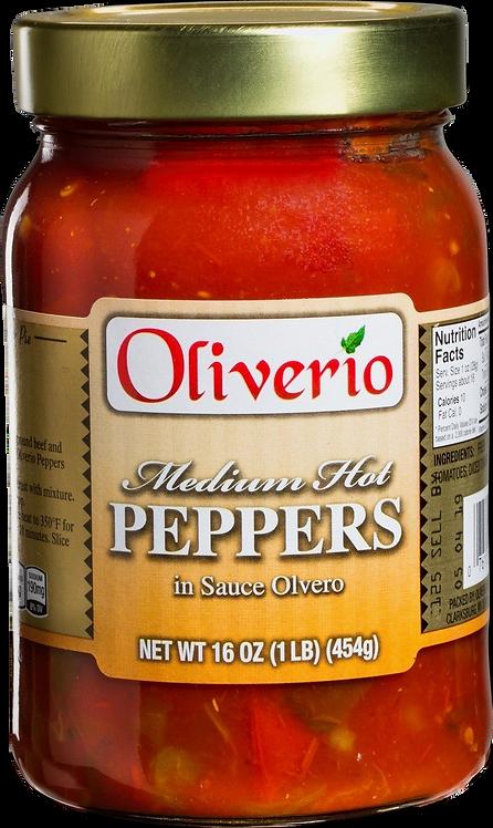 Medium Hot Peppers in Sauce