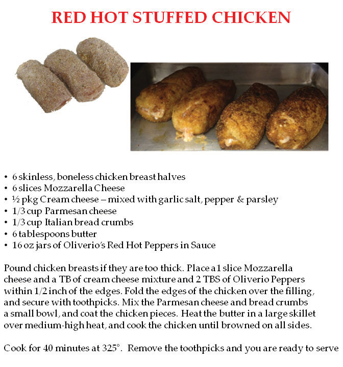 Red Hot Stuffed Chicken