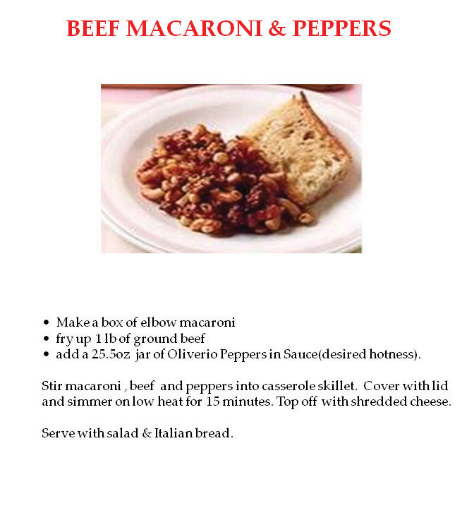 Beef Maccaroni and Peppers
