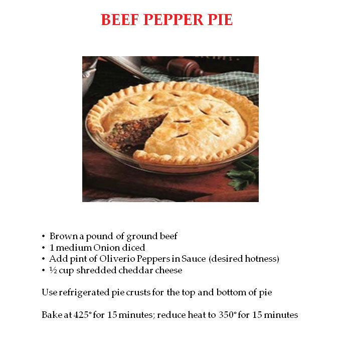 Beef Pepper Pie