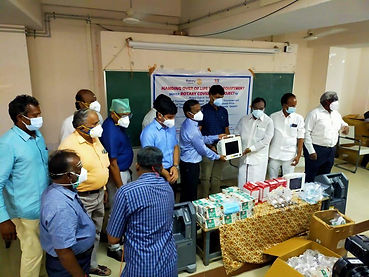 Donation of Oxycontrators & other   medical equipment to Hospital 1.jpg