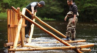 Installing wooden weir_Grant Callegari.j