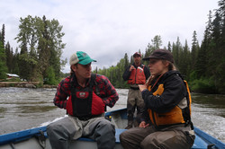 Jon and Elissa on the Babine River
