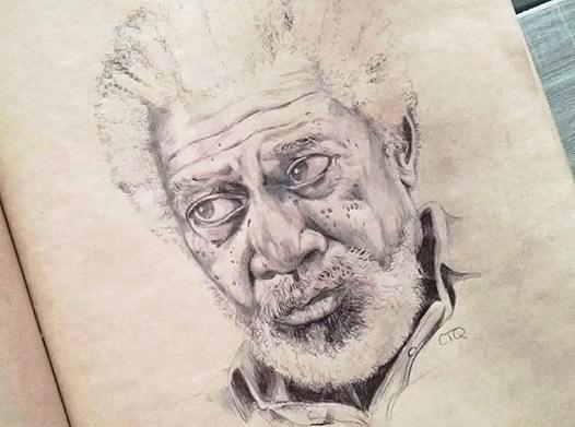 portrait au stylo