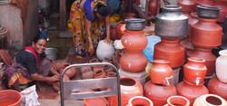 Potters in Mumbai slum