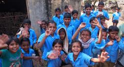 Rajasthan school children greet us