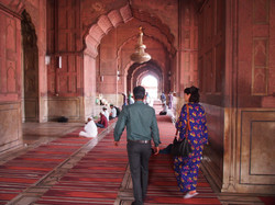 Central Mosque in Old  Delhi