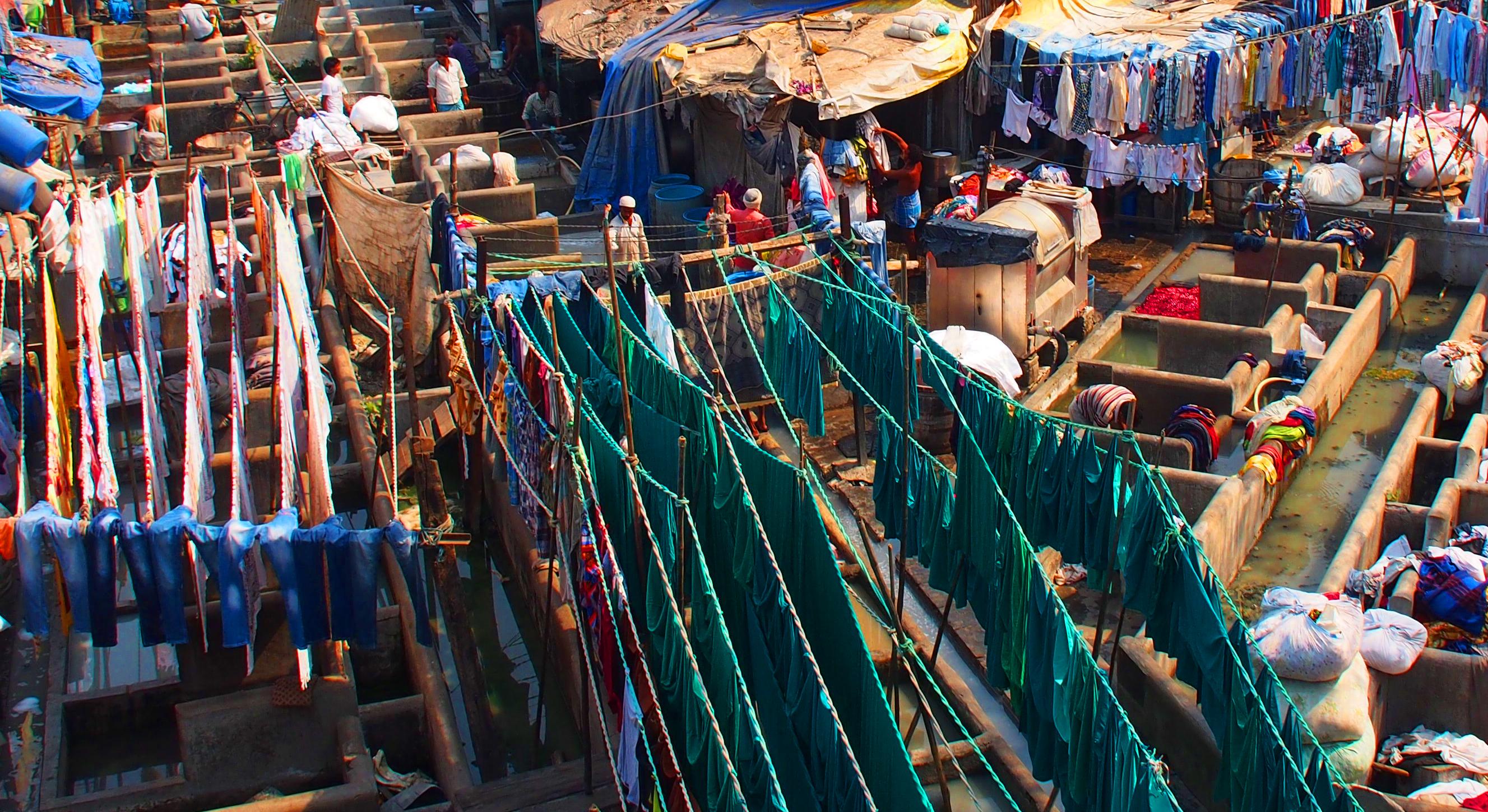 Laundry in Mumbai slums