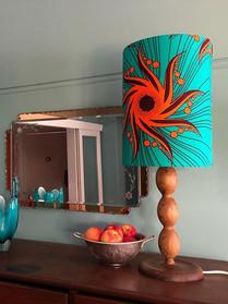 Turquoise and orange vortex