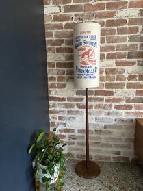 Vintage Dingo Flour floor lamp