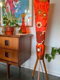 70's vintage rocket lamp