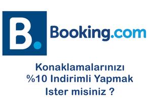 Booking.com 'dan %10 İade Almak!