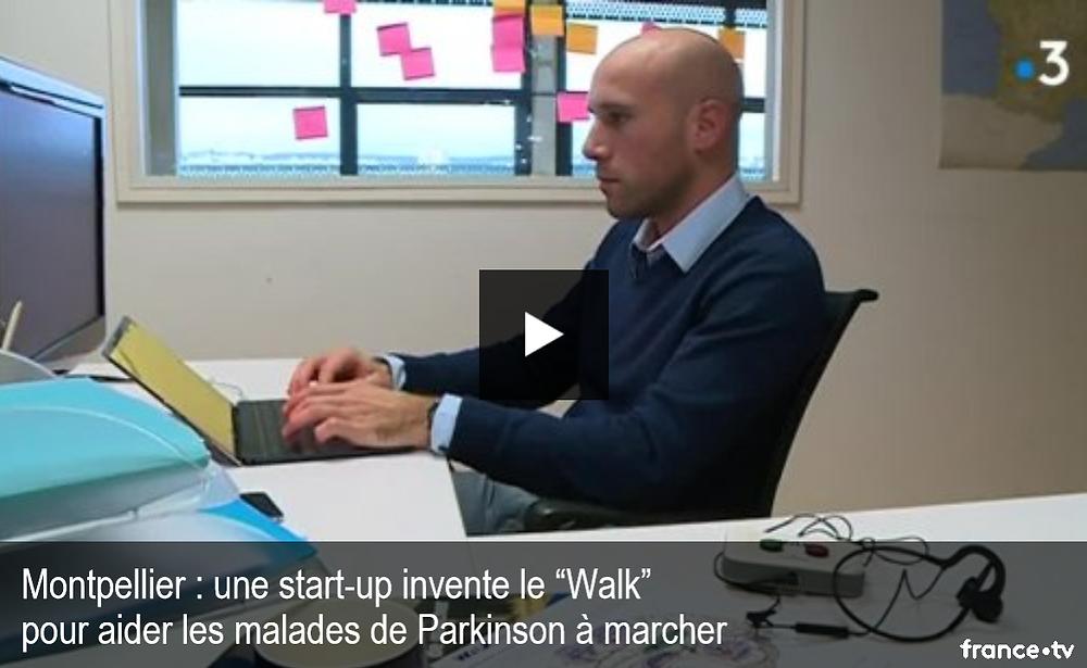 """Une start-up invente le """"Walk"""" pour aider les malades de Parkinson à marcher"""