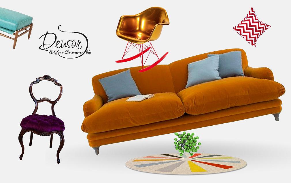 Sofá, cadeira, maple, estofador Lisboa