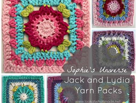 Jack- ja Lydia-lankapaketit – Sophie's Universe CAL 2015