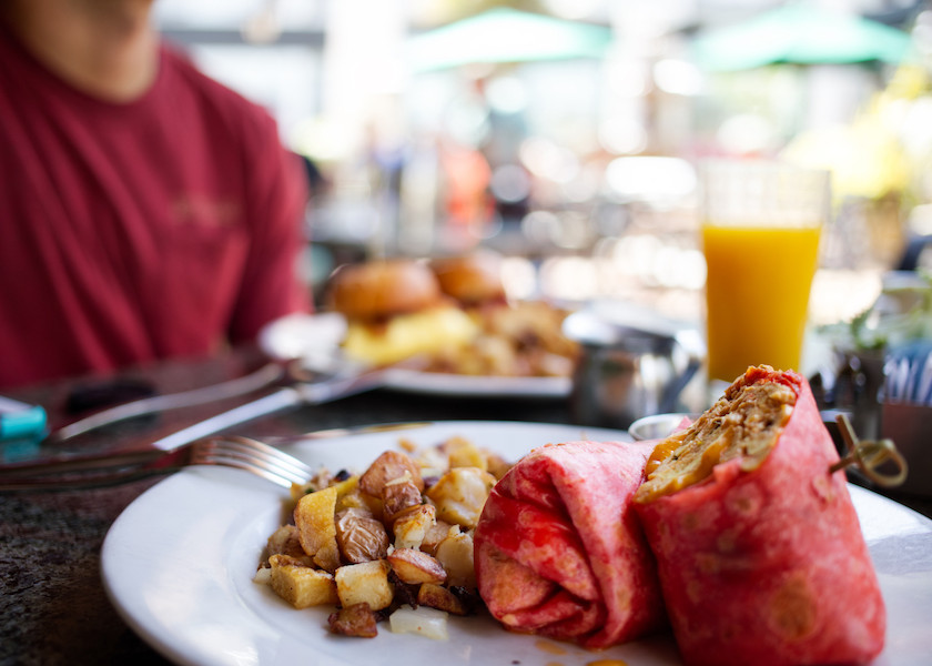 Healthy Breakfast Burrito at Café Bahia | Bahia Resort Hotel on Mission Bay, San Diego