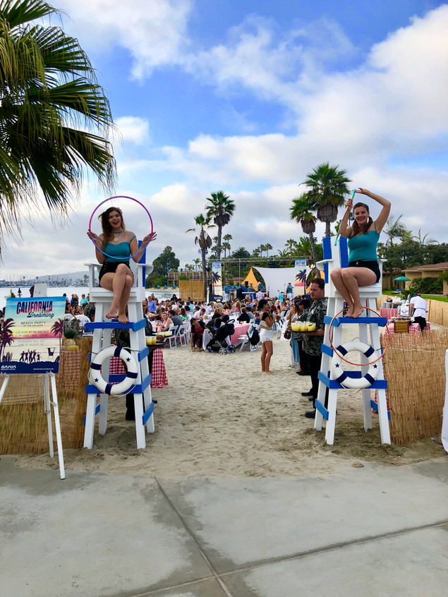 Hula Hoopers at California Dreaming Beach Party | Bahia Resort Hotel on Mission Bay in San Diego
