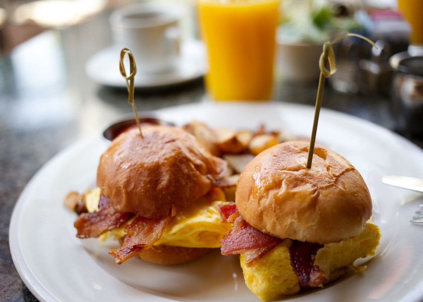 Breakfast Burger Sliders at Café Bahia | Bahia Resort Hotel on Mission Bay, San Diego