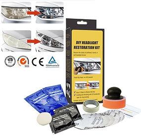 1 Set Car DIY Headlight Lens Restoration System Professional Polishing Tool Kit