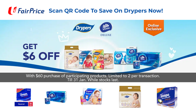 Fairprice Drypers Promo
