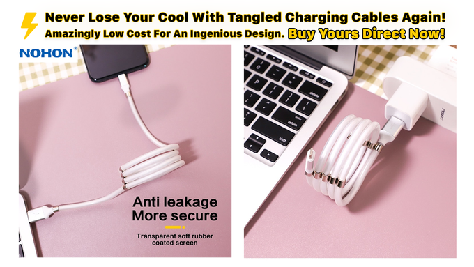 Flexible And Durable Foldable Non-tangled Fast Charging Cables