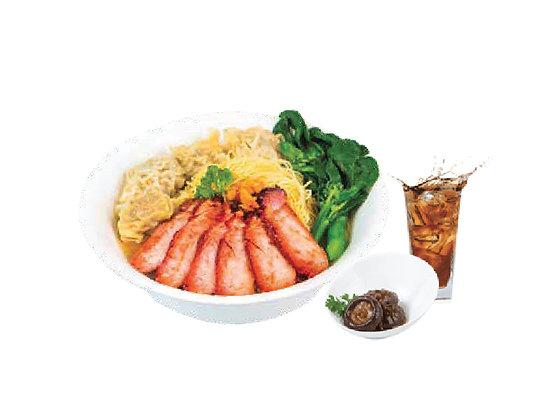 Char Siew Wanton Noodle Soup