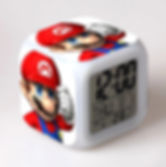 Super Mario Bros LED Alarm Clock with Glowing Colorful Touch Light