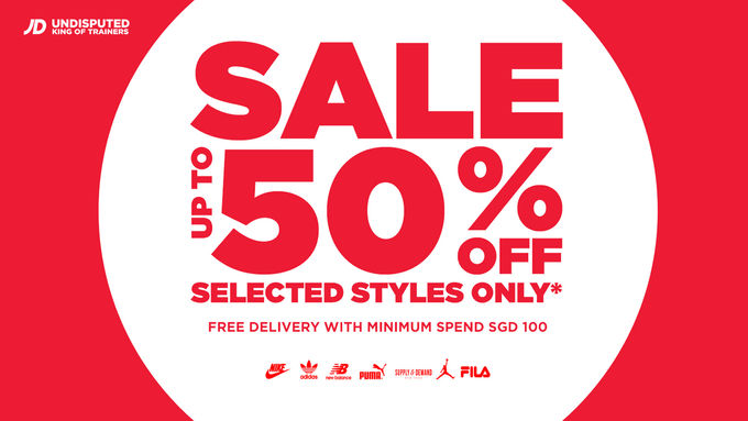 JD Sports Up To 50% Off Sale