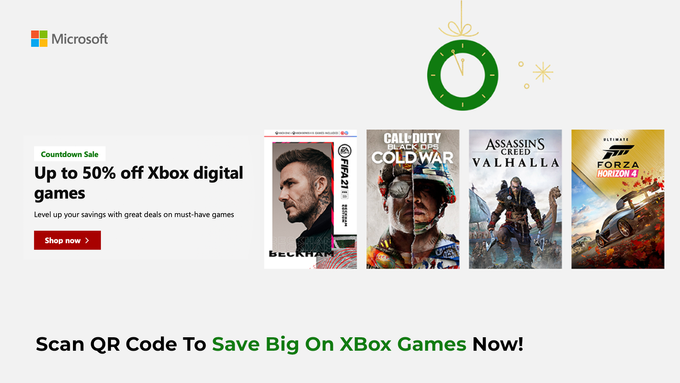 Mircosoft XBox Games Up To 50% OFF