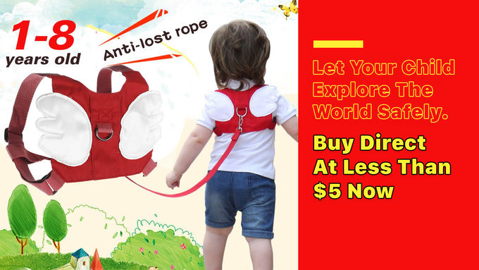Children Anti Lost Safety Rope Band Harness Strap
