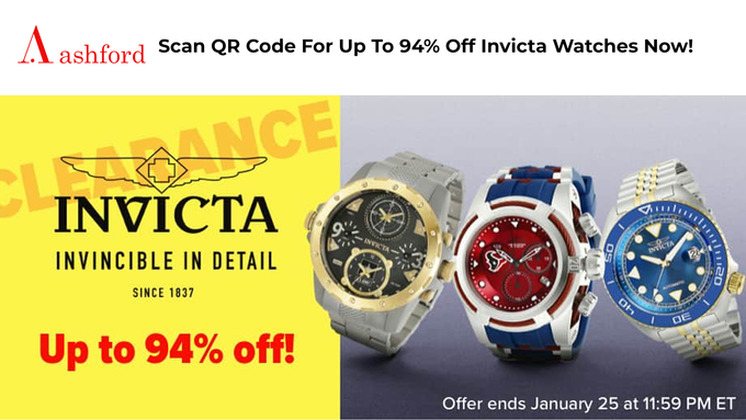 Ashford Invicta Watches Sale