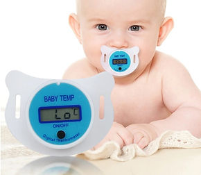 LCD Digital Pacifier Baby Thermometer