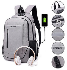 Anti-Thef Laptop Backpack with USB Design