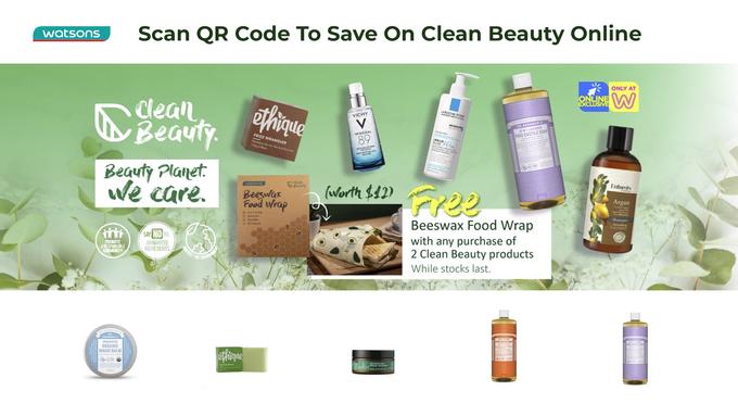 Watsons Clean Beauty Promo