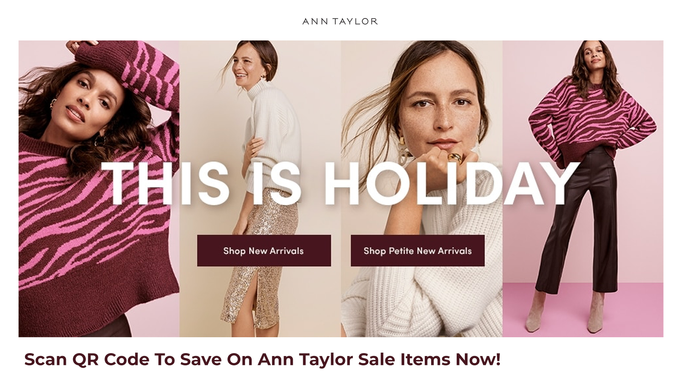 Ann Taylor Holiday Promo