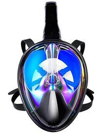 Full Dry Snorkeling Mask Set with Anti-fog and Anti-UV
