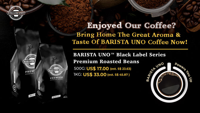 BARISTA UNO™ Black Label Series Premium Roasted Beans