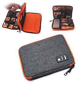 Multi-Functional Travel Electronics Organizer Bag