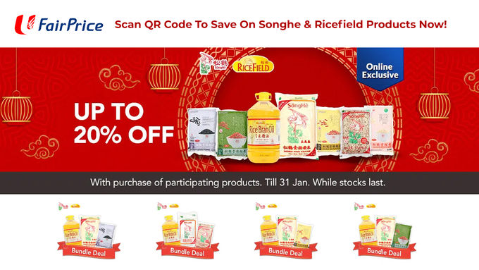 NTUC Fairprice Songhe & Ricefield Promo