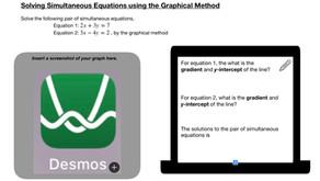 Maths - Sec 2 - Solving Simultaneous Equations using Elimination Method