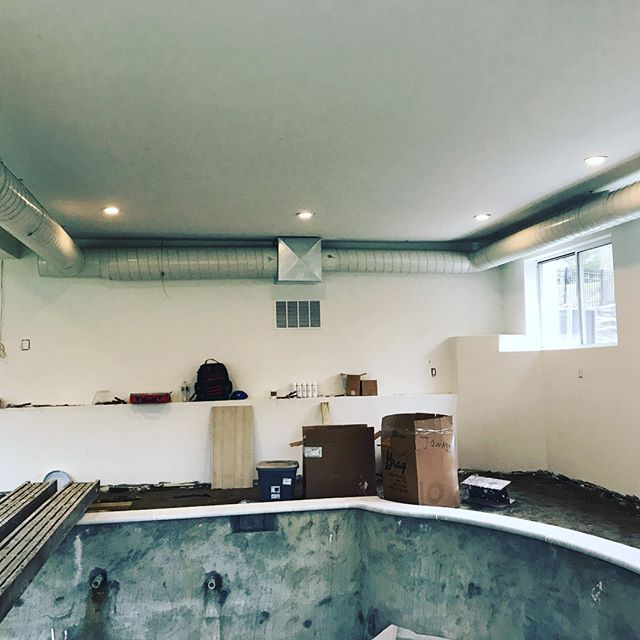 Work in progress #spiralpipe #hvacinstallation #PVS #poolhvac #yorkhvac #hvac #basementpool #honeywe